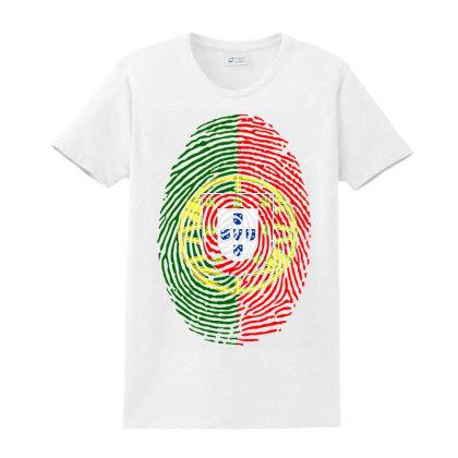 Flag Portugal Euro 2021 Fingerprint Ladies Classic T-shirt Designed By Jetstar99