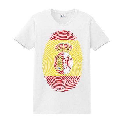 Flag Spain Euro 2021 Fingerprint Ladies Classic T-shirt Designed By Jetstar99
