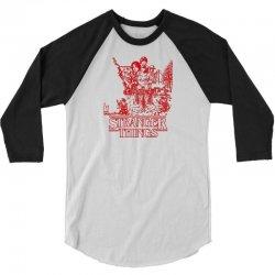 stranger things red 3/4 Sleeve Shirt   Artistshot