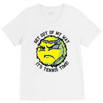 Tennis Balls V-neck Tee Designed By Toldo