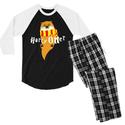 Harry Otter Classic Men's 3/4 Sleeve Pajama Set Designed By Hot Maker