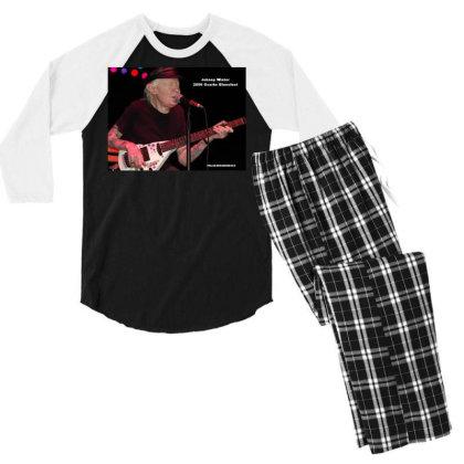 Johnny Winter Men's 3/4 Sleeve Pajama Set Designed By Accel900101