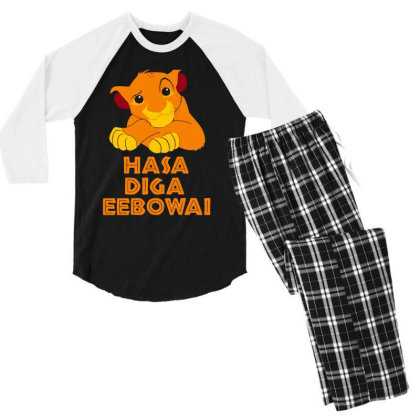 Hasa Diga Eebowai Lion King Men's 3/4 Sleeve Pajama Set Designed By Hot Maker