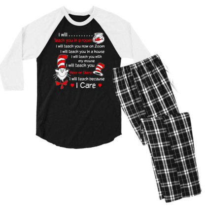 I Will Teach You In A Room Men's 3/4 Sleeve Pajama Set Designed By S4nty
