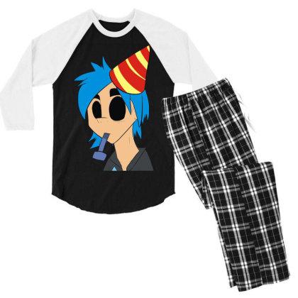 The Birthday Boy Men's 3/4 Sleeve Pajama Set Designed By Toldo