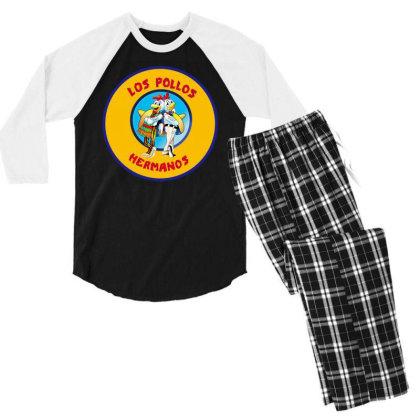 Los Pollos Hermanos Men's 3/4 Sleeve Pajama Set Designed By Mawa