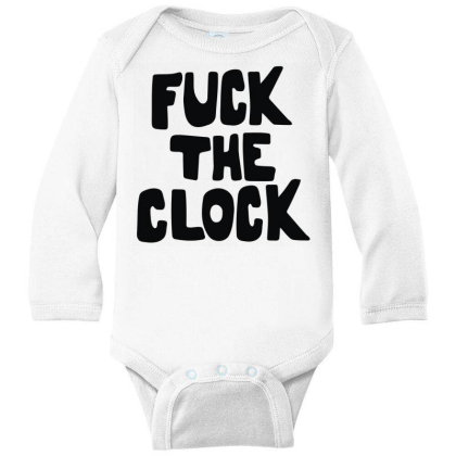 The Clock As Worn Long Sleeve Baby Bodysuit Designed By Toldo