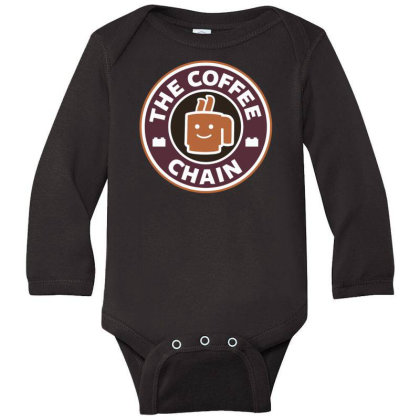 The Coffee Chain Long Sleeve Baby Bodysuit Designed By Toldo