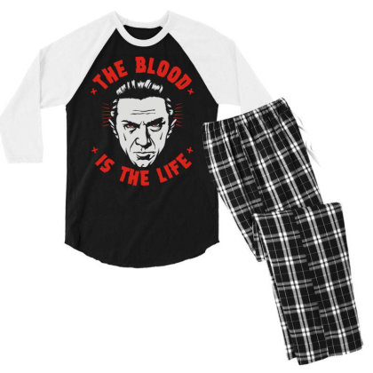The Blood Is The Life Men's 3/4 Sleeve Pajama Set Designed By Toldo
