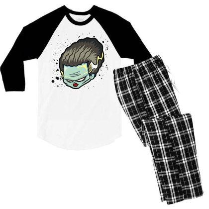 The Bride Of Frankenstein Men's 3/4 Sleeve Pajama Set Designed By Toldo