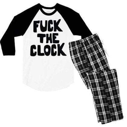 The Clock As Worn Men's 3/4 Sleeve Pajama Set Designed By Toldo