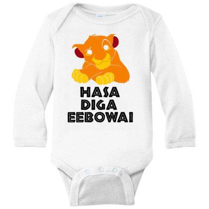 Hasa Diga Eebowai Lion King Long Sleeve Baby Bodysuit Designed By Hot Maker