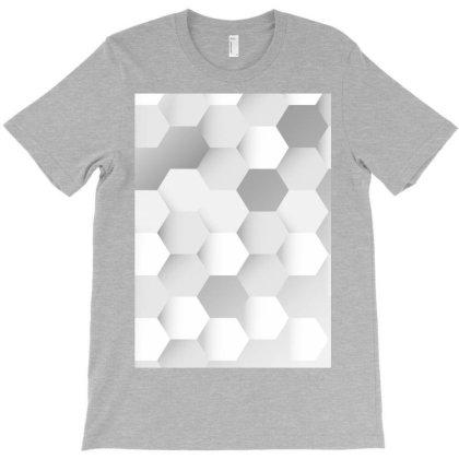Gray Hexagon Patterned T-shirt Designed By Aa-kudus
