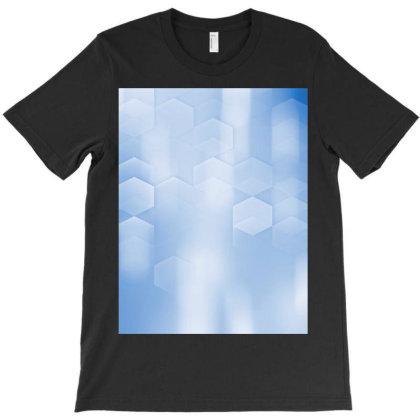 Blurred Blue Bokeh T-shirt Designed By Aa-kudus