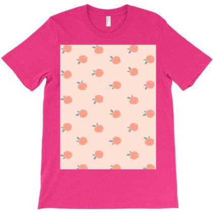 Peach Pattern T-shirt Designed By Aa-kudus