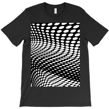Black And White Halftone T-shirt Designed By Aa-kudus