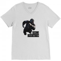 Gorilla Lives Matter V-Neck Tee | Artistshot
