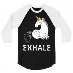 Exhale Unicorn 3/4 Sleeve Shirt | Artistshot