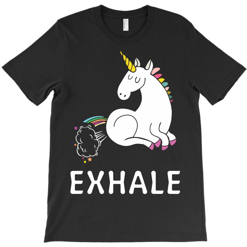 Exhale Unicorn T-shirt | Artistshot