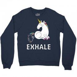 Exhale Unicorn Crewneck Sweatshirt | Artistshot