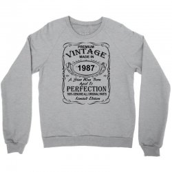 Birthday Gift Ideas for Men and Women was born 1987 Crewneck Sweatshirt | Artistshot