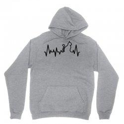 Cat Heartbeat Line Unisex Hoodie   Artistshot