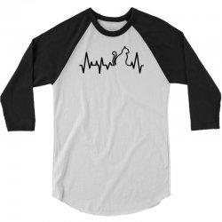 Cat Heartbeat Line 3/4 Sleeve Shirt   Artistshot