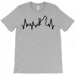 Cat Heartbeat Line T-Shirt   Artistshot