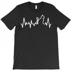 Cat Heartbeat Line T-Shirt | Artistshot