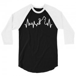 Cat Heartbeat Line 3/4 Sleeve Shirt | Artistshot
