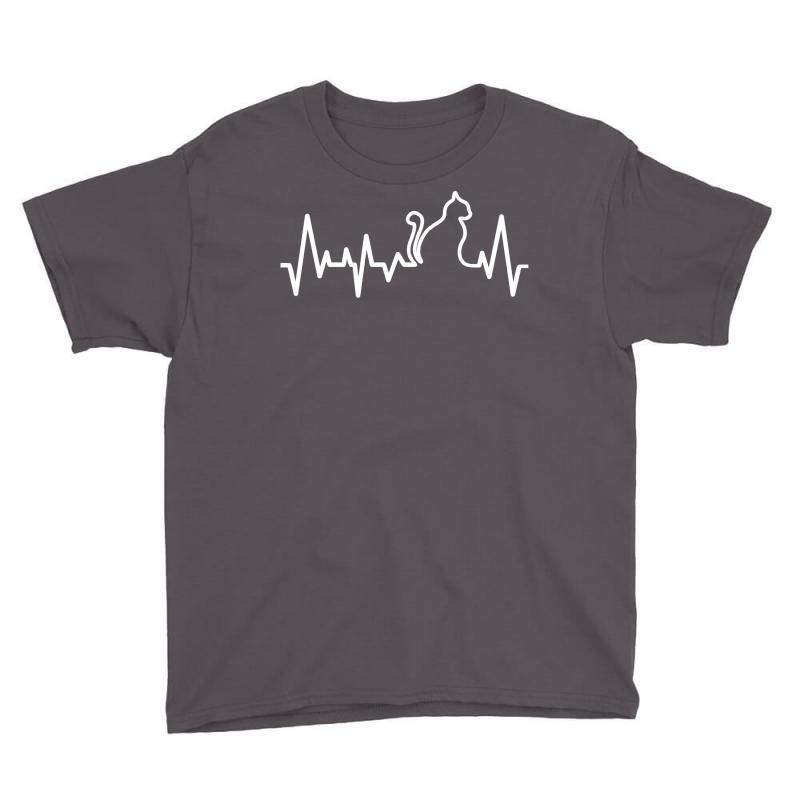 Cat Heartbeat Line Youth Tee | Artistshot
