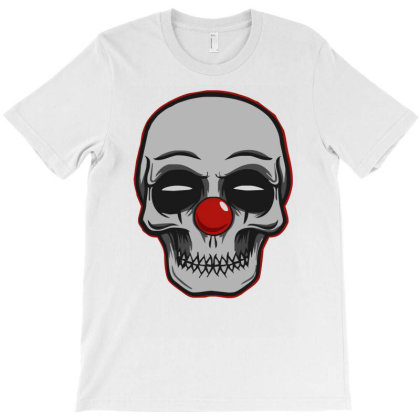 Terror Skull Clown T-shirt Designed By Garrys4b4