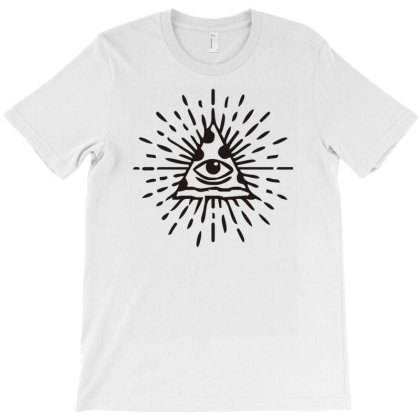 The All Seeing Pizza Funny Illuminate T-shirt Designed By Garrys4b4