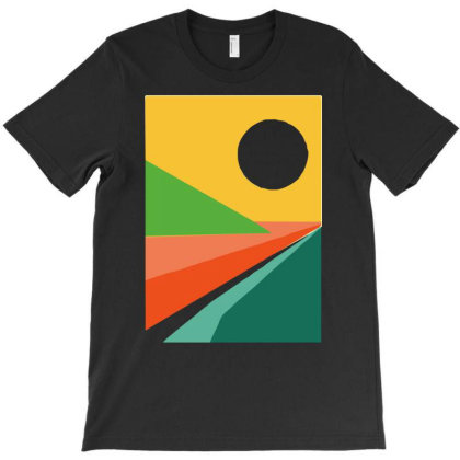 The Beach Funny Sketch Colour T-shirt Designed By Garrys4b4