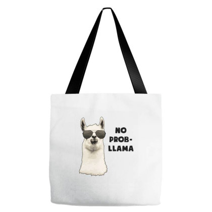 No Problem Llama Tote Bags Designed By Jasmine Tees