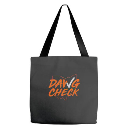 Dawg Check Cleveland Brown Tote Bags Designed By Coşkun