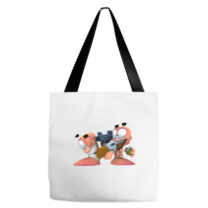 Worms Game Tote Bags Designed By Erkn