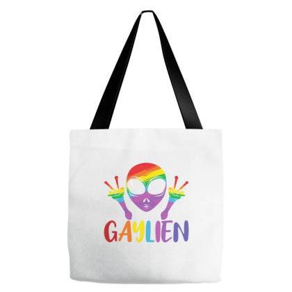Pride Gaylien Rainbow Tote Bags Designed By Opan