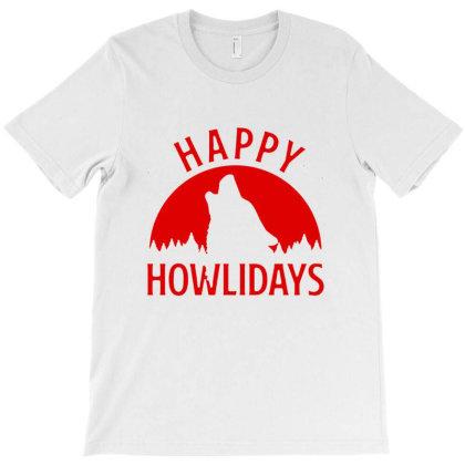 Happy Howlidays T-shirt Designed By Sakatiar