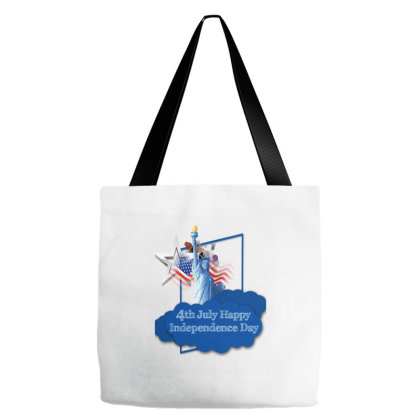 4th July Happy Independence Day Tote Bags Designed By Erkn