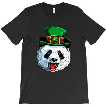 Panda Leprechaun St Patricks Day T-shirt Designed By Sakatiar