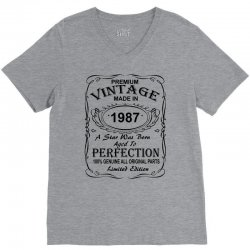 Birthday Gift Ideas for Men and Women was born 1987 V-Neck Tee | Artistshot