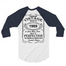 Birthday Gift Ideas for Men and Women was born 1989 3/4 Sleeve Shirt | Artistshot