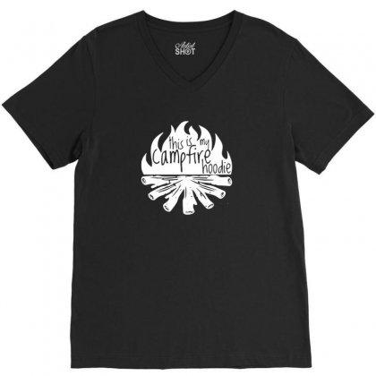 Campfire Hoodie V-neck Tee Designed By Riksense