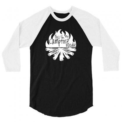 Campfire Hoodie 3/4 Sleeve Shirt Designed By Riksense