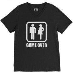 Game Over V-Neck Tee | Artistshot