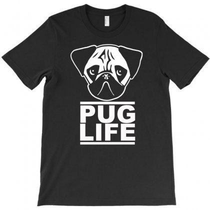 Pug Life T-shirt Designed By Gematees