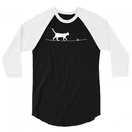 Rope Heart Cat 3/4 Sleeve Shirt Designed By Riksense