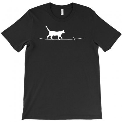 Rope Heart Cat T-shirt Designed By Riksense