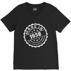 MADE IN 1938 ALL ORIGINAL PARTS V-Neck Tee | Artistshot